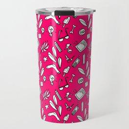 LotteZ' purse items doodle print (magenta) Travel Mug