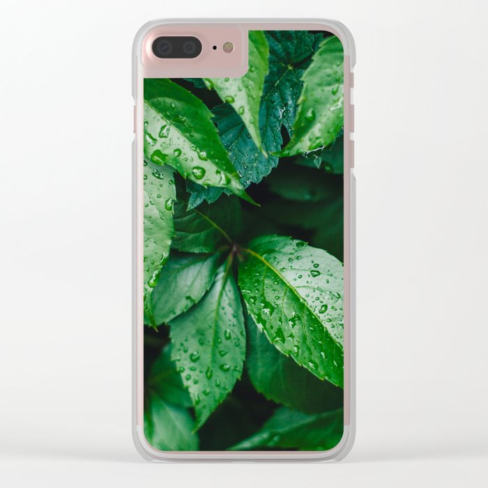 After the rain Clear iPhone Case