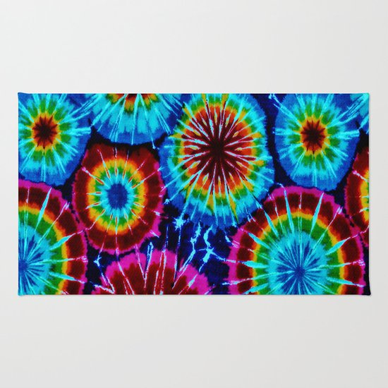 Tie Dye Rug By Gypsykissphotography