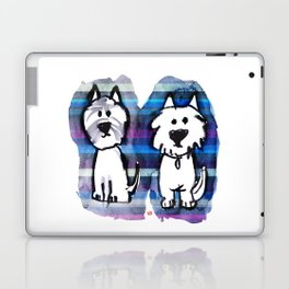 Two very serious Westies Laptop & iPad Skin