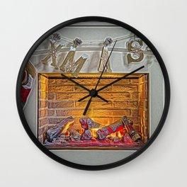 Christmas Warmth. Wall Clock