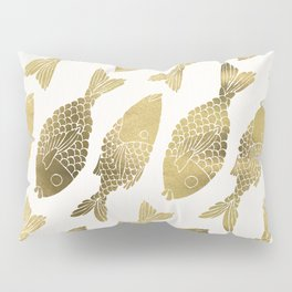 Indonesian Fish Duo – Gold Palette Pillow Sham