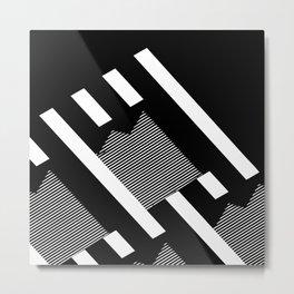 Thick Shadowed Lines Metal Print