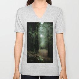 In the forest of Washington state, ponderosa pine trees Unisex V-Neck