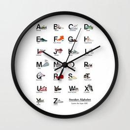 Sneaker Alphabet - Sneakerhead - Hypebeast - Birthday Gift - Art - Jordan Wall - Office Wall deco - Air Jordan - Yeezies Wall Clock