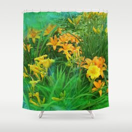 Day-glo Lilies Shower Curtain