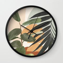 Sunset Flora 03 Wall Clock