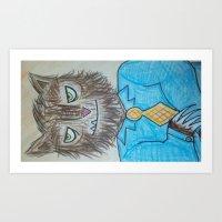 Wolfman Combover Art Print