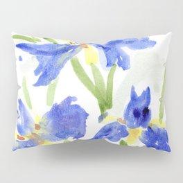 Blue Iris Pillow Sham