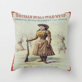 Annie Oakley Vintage Print Throw Pillow