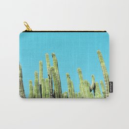 Desert Cactus Reaching for the Blue Sky Carry-All Pouch