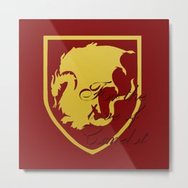 Pendragon crest - Merlin BBC Metal Print