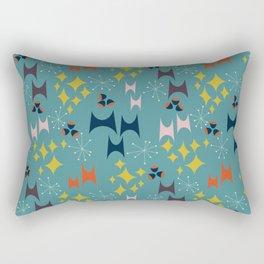 Deviled Starbursts Teal Rectangular Pillow