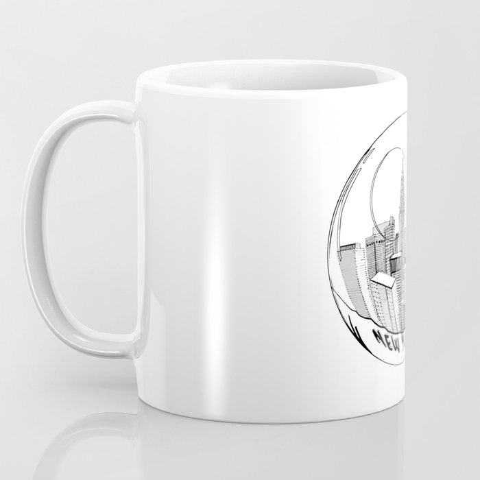 the city of New York in a suspended bowl . artwork Coffee Mug