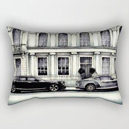 THE STREET OF LONDON IN GREYS Rectangular Pillow