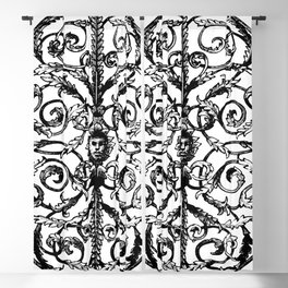 Antique Iron Gate with Face Blackout Curtain