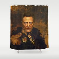 replaceface Shower Curtains featuring Christopher Walken - replaceface by replaceface
