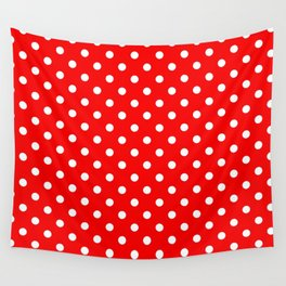 Girls just wanna have dots - red/white Wall Tapestry