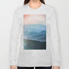 Great Smoky Mountain National Park Sunset Layers - Nature Photography Long Sleeve T-shirt