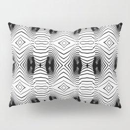 black wave lines  Pillow Sham