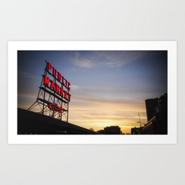 Pike Place Sunset Art Print