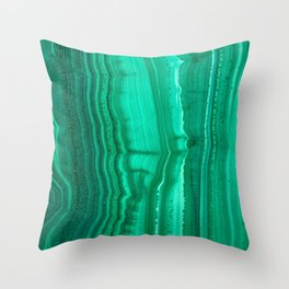 Malachite Stone Throw Pillow