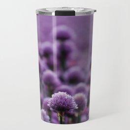 Spring Photography - Big Field Of Alliums Travel Mug
