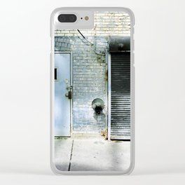 Blue Street Abstract 3 Clear iPhone Case
