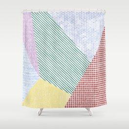 Chalk Patterns Shower Curtain