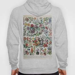 Adolphe Millot - Fleurs C - French vintage poster Hoody