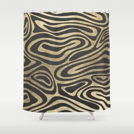 Abstract mauve gray gold elegant marble Shower Curtain