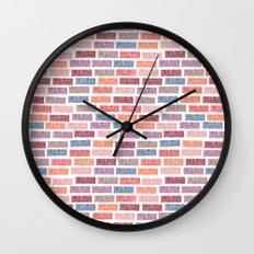 Brick Block Wall Clock