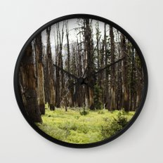 YELLOWSTONE FOREST Wall Clock