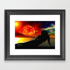 Radiant Sunset Framed Art Print