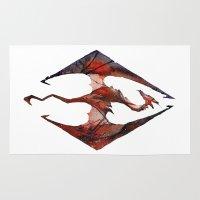 skyrim Area & Throw Rugs featuring Skyrim Alduin by Rubis Firenos