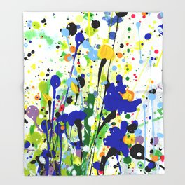 Deep In The Meadow 2 by Kathy Morton Stanion Throw Blanket