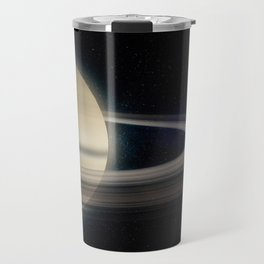 Saturn in outer space Travel Mug