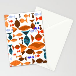 Red Fishes Stationery Cards