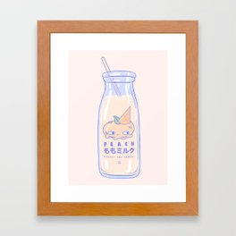 Peachy and Creamy Framed Art Print