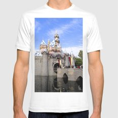 Sleeping Beauty's Holiday Castle Mens Fitted Tee MEDIUM White