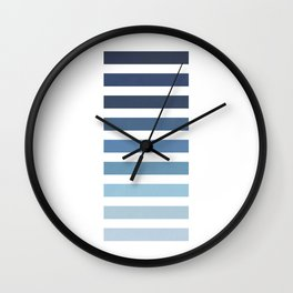Sky and Water Blue Palette Wall Clock