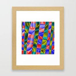 Chroma Clash Framed Art Print