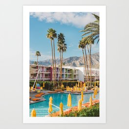 Palm Springs Saguaro Art Print