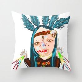 ahHHHHH #5 Throw Pillow