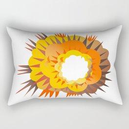 Bomb Explosion Retro Rectangular Pillow