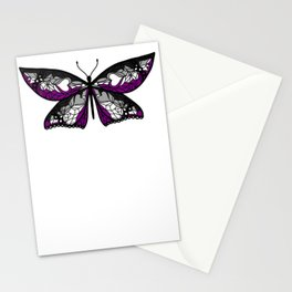 Fly With Pride: Asexual Flag Butterfly Stationery Cards