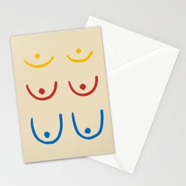 Boobs minimal Stationery Cards