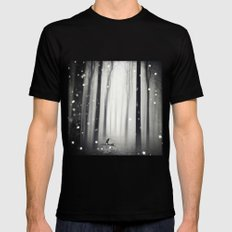 Winter Song Black MEDIUM Mens Fitted Tee
