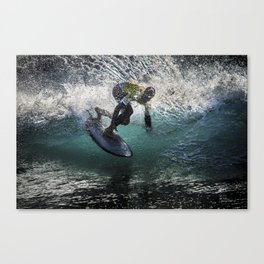 Siver Surfer big spray Canvas Print