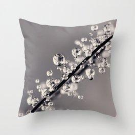 Smoking Drops in B&W Throw Pillow